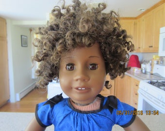 "18"" American Girl Doll ""Addy""  with a different hair style"