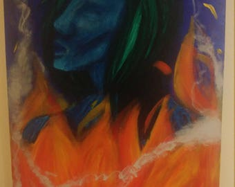 """Painting """"Smoke and Fire"""""""