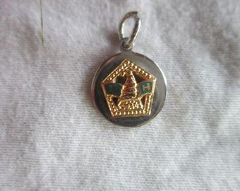 Vintage Fraternal  P H  Enameled Charm Bracelet Charm