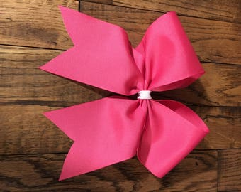 Pink Puffy Cheer Bow