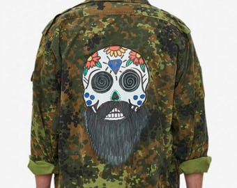 Personalized Original Camouflage Jacket Painted by Hand
