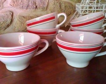 Set of 6 Cider Cups - French vintage set