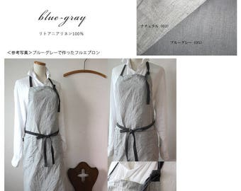 Linen apron Blue Grey linen 100% [MY BEST APRON]