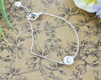 Personalised Silver Plated Chain Bracelet
