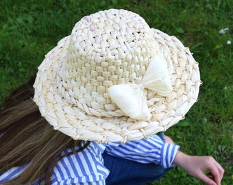 Wide Brimmed Hat, White Straw Hat, Straw Hat For Women, Ladies Straw Hat, Ladies Summer Hat, White Beach Hat, Large Ladies Hat, White Summer