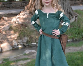 Merida, Brave Costume Dress, Girls