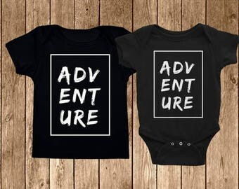 Adventure Baby Onesie & Graphic Tee   Cute Onesie   Toddler Tee   Adventure clothes   Pregnancy Announcement  