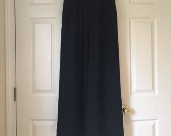 Vintage Black wide leg chiffon pants size 8