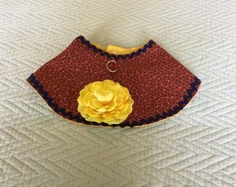 Red,blue flower wrap cape