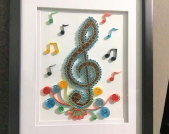 Musical Note / Home Decor / Quilling / Note
