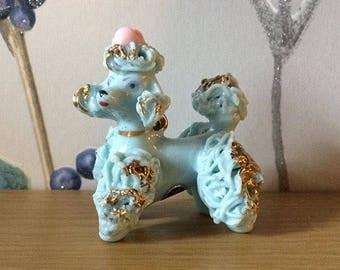 Kitsch 1960's blue poodle