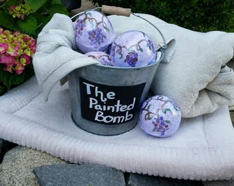 Bath Bomb One Large 7 oz, Bath Fizzy, Wine Lover Bath Bomb, Wine Bath Fizzy, Speak To Me Merlot Bath Bomb, For her