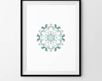 Mandala, Minimalist, Scandi, Geometric, Pattern, Digital Download, Art, Print, Poster, Modern, Contemporary, Circle, Circular