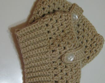 Boot Topper Boot Cuff Leg Warmer Beige Tan