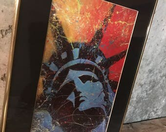 Splatter Paint Statue of Liberty Print