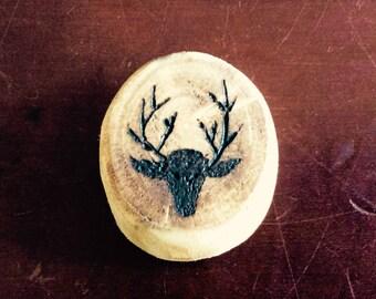 Wooden pendant deer design