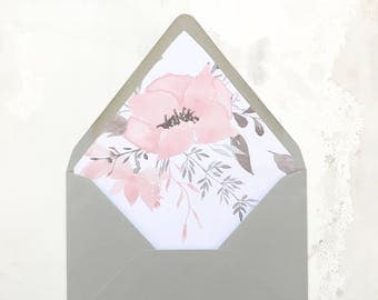 A7 Floral Envelope Liner