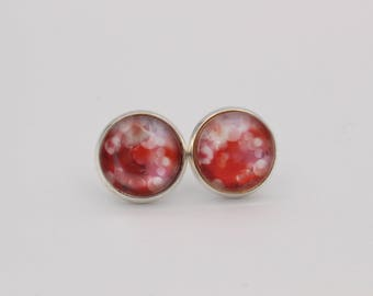 Cabochon earrings abstract