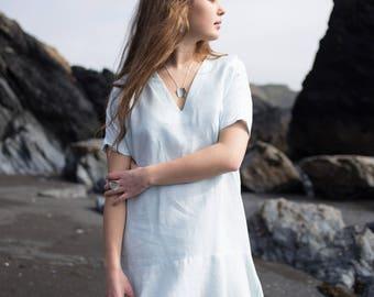 Linen Frill Dress