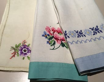 Vintage Linen Tray-cloths/Hand Towels