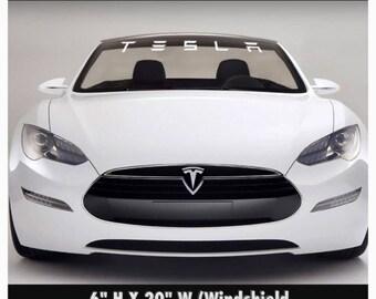 1950-2017 Tesla Windshield Body Decal Sticker New Custom 1PC 10 Colors