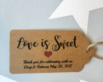 10x Love is sweet gift tag