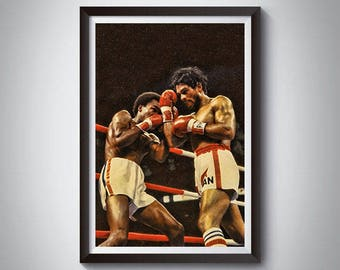 Boxing Fighting Inspired Art Poster Painting Print 5