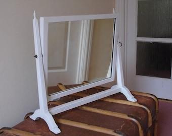 Pretty Edwardian/Victorian dressing table mirror or bathroom mirror
