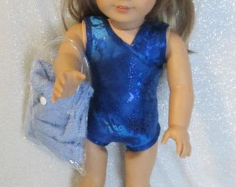 American Girl Doll Swimsuits w/Matching Sandals, Towel and Beach Bag