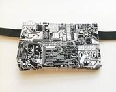 Circut Board/ Salvaged Vintage Fabric- Fanny Pack/Bike Bag/Hip Bag/ Hip Belt/ Utility Belt