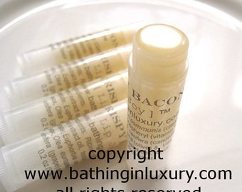 2 tubes Bacon Lip Balm for Men boyfriend gift - Vegan because there is no bacon in this vegan lip balm MADE FROM SCRATCH using edible oils