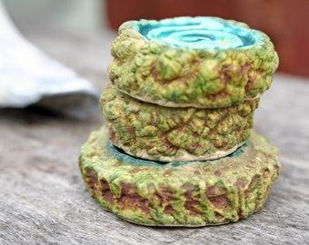 Handmade Ceramic Buttons Set of 3