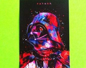 Star Wars Darth Vader Boba Fett Storm Trooper C3PO Droid Inspired Prism Watercolor Art Waterproof Vinyl Sticker - More Styles