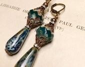 Azureverde Vintage Inspired Drop Earrings