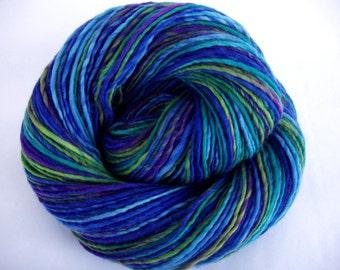 Handspun merino yarn, merino yarn, crocheting yarn, handspun yarn, felting yarn,variegated yarn,worsted yarn,dolls hair, FAIRYLAND 2, 220yds