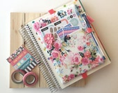 Floral planner cover pouch - planner bag - flower print pen pouch - The ORIGINAL Pocket Planner Pouch - BUJO Pouch - Bullet Journal Bag