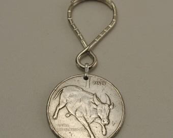 Philippines 1987 Coin Keychain