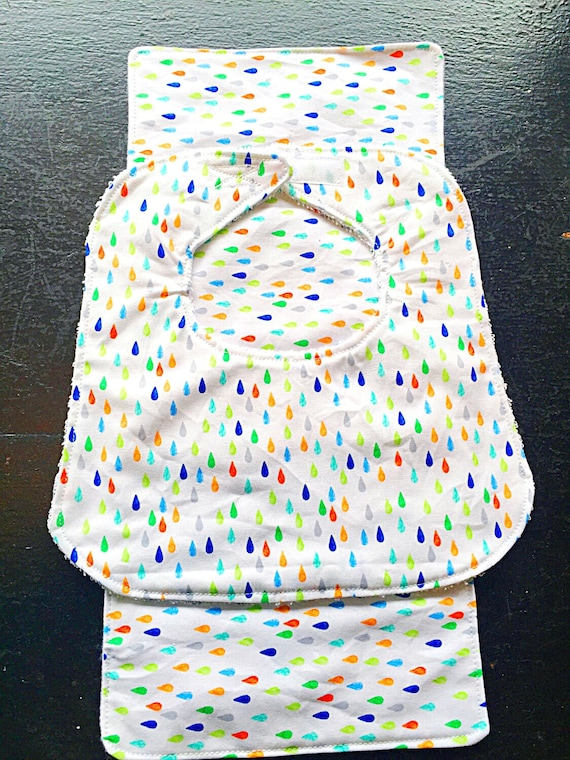 Raindrops Baby Bib and Burp Cloth Set, Baby Shower Gift, Infant Bib, Drool Bib, Newborn Bib