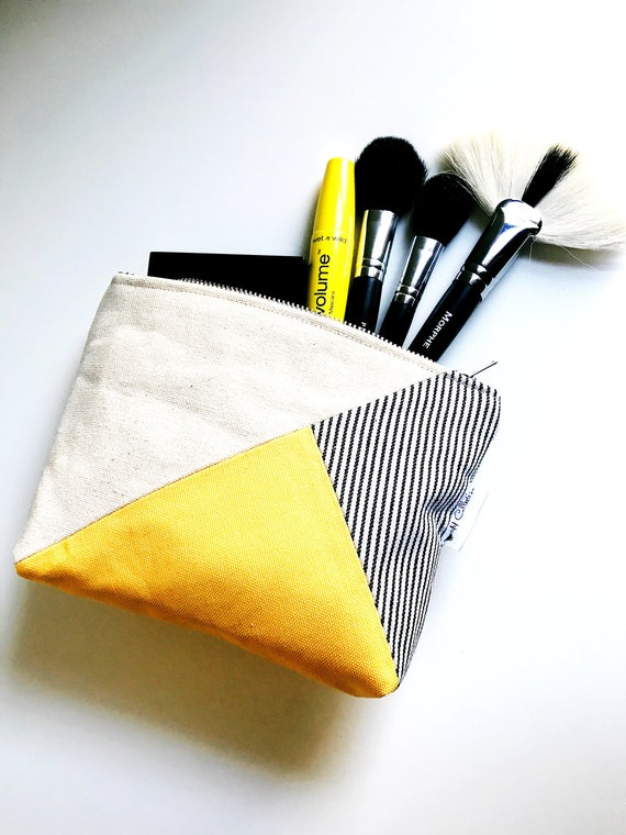 Canvas Makeup Bag, Cosmetic Bag, Small Zipper Pouch, Toiletry Bag, Small Makeup Bag, Travel Make up Bag