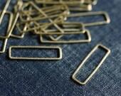 Long Rectangles 21x8mm (Thicker) - Raw Brass - 24pcs - Rectangle Connector, Brass Rectangle, Rectangle Link, Rectangle Ring