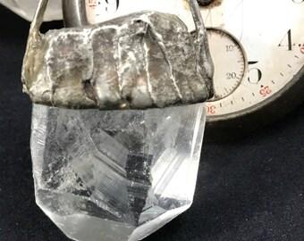 Ancient- Clear quartz, dark metal