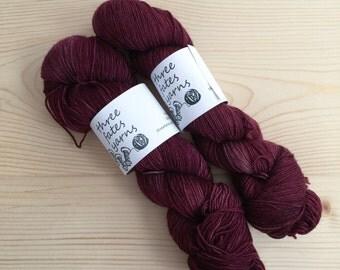 guinevere - aurai fingering weight merino yak nylon sock yarn, dyed to order