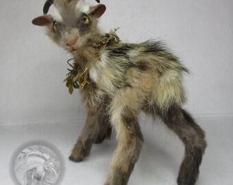 Goat Doll Sculpture Collectible Art OOAK
