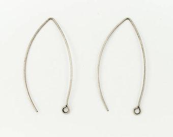 45mm Antique Silver Modern Ear Wire #EFG102