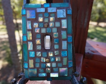 NEW Mosaic ART light switch cover Beautiful colors