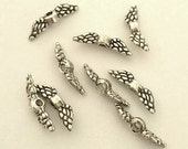 Tiny Angel Wings - 20 pcs. - Angel Wings - Angel Wing Beads - Antique Silver Tibetan Style -  Lead Free