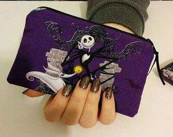 Nightmare Before Christmas Zippered Coin Pouch Case Anime Cosplay