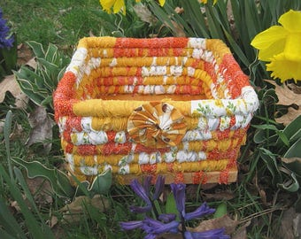 WALLFLOWER textile art Basket tray box