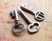 Perfect Pendant Set - Antique Keys - Sewing Machine Treadle Key // New Year Sale - 15% OFF - Coupon Code SAVE15
