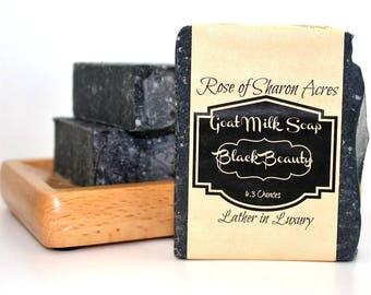 Black Beauty - Activated Charcoal Goat Milk Soap - Unscented